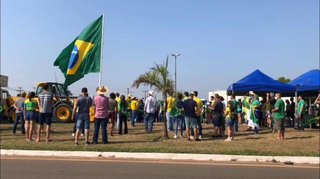 As ruas de Vilhena (RO) na manhã desta terça-feira (7). Grupos a favor do presidente Bolsonaro durante protesto. — Foto: Maelly Nunes/Rede Amazônica