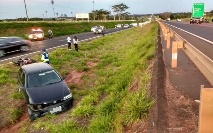 Acidente aconteceu na rodovia Euclides da Cunha em Votuporanga  (Foto: Votuporanga Tudo)