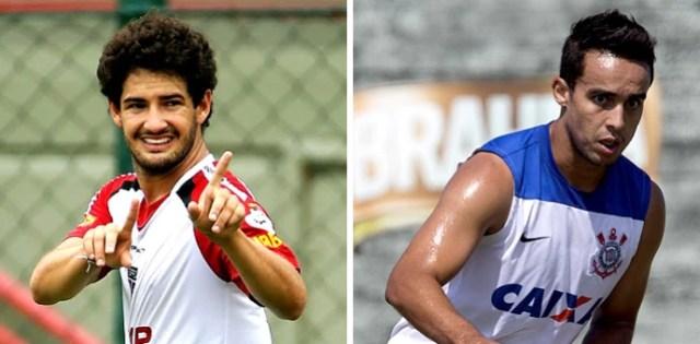 MONTAGEM - Alexandre PAto São Paulo e Jadson Corinthians (Foto: Editoria de arte)