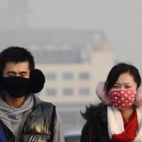 Nasa divulga imagens de satélite que mostram poluição sobre a China.