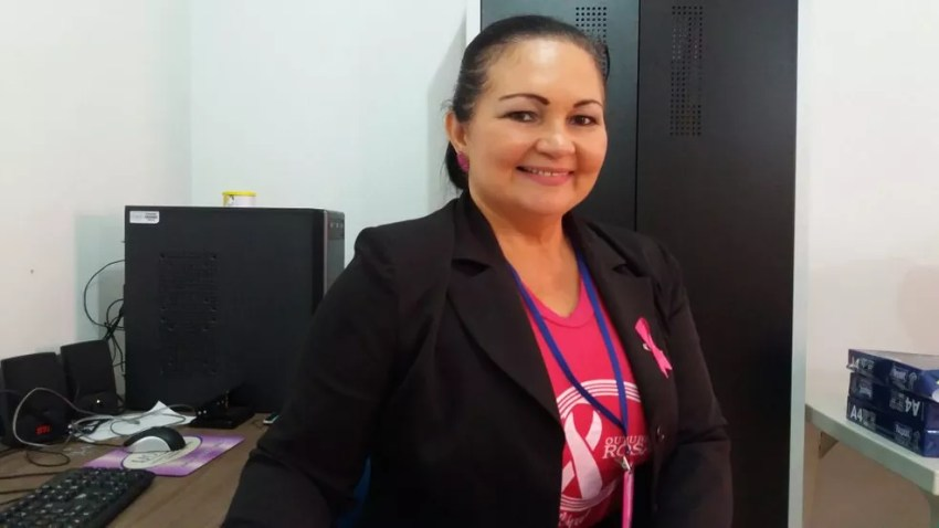 Maria Lúcia Machado, assistente social do Ijoma (Foto: Carlos Alberto Jr/G1)