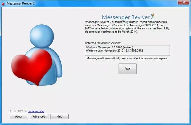 Software reinstala e reativa o comunicador da Microsoft (Foto: Reprodução)