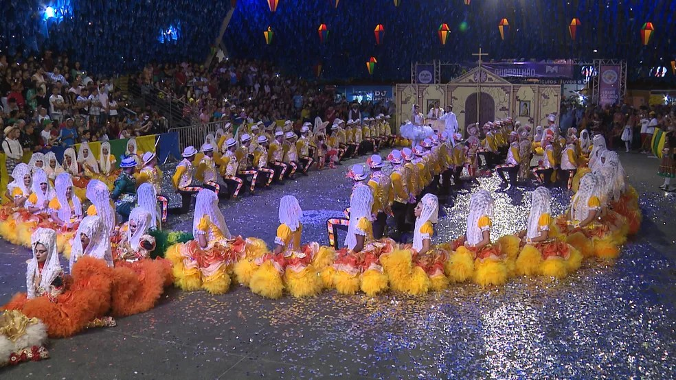 Concurso de quadrilhas juninas vai acontecer na Pirâmide do Parque do Povo, em Campina Grande (Foto: Reprodução/TV Paraíba/Arquivo)