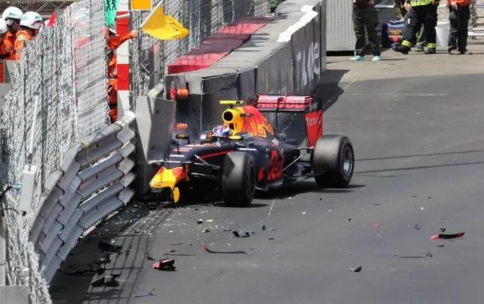 Max Verstappen bateu no Q1 do treino classificatório para o GP de Mônaco (Foto: Reprodução)