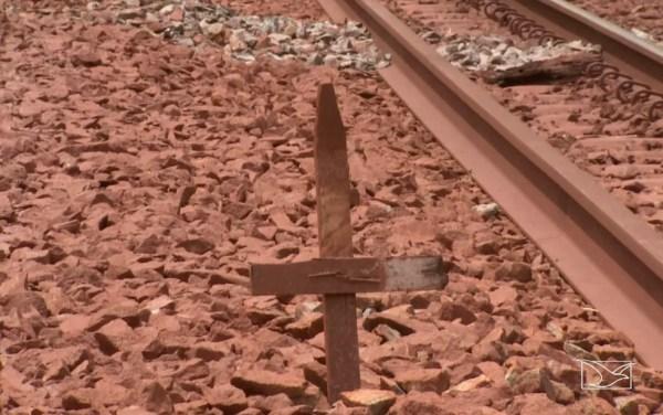 Relatório da ANTT diz que entre janeiro de 2015 e abril de 2017 foram registrados 12 mortes na Ferrovia Carajás (Foto: Reprodução/ TV Mirante)