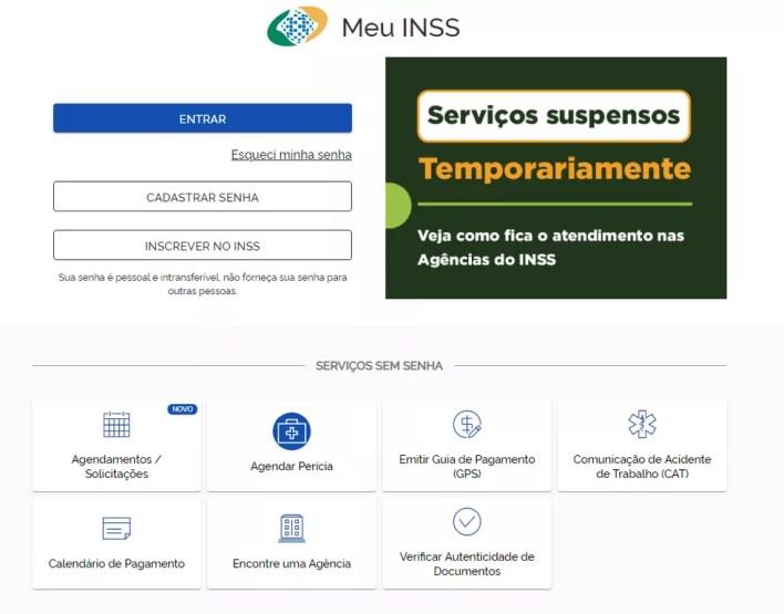 Meu INSS — Foto: Reprodução/INSS