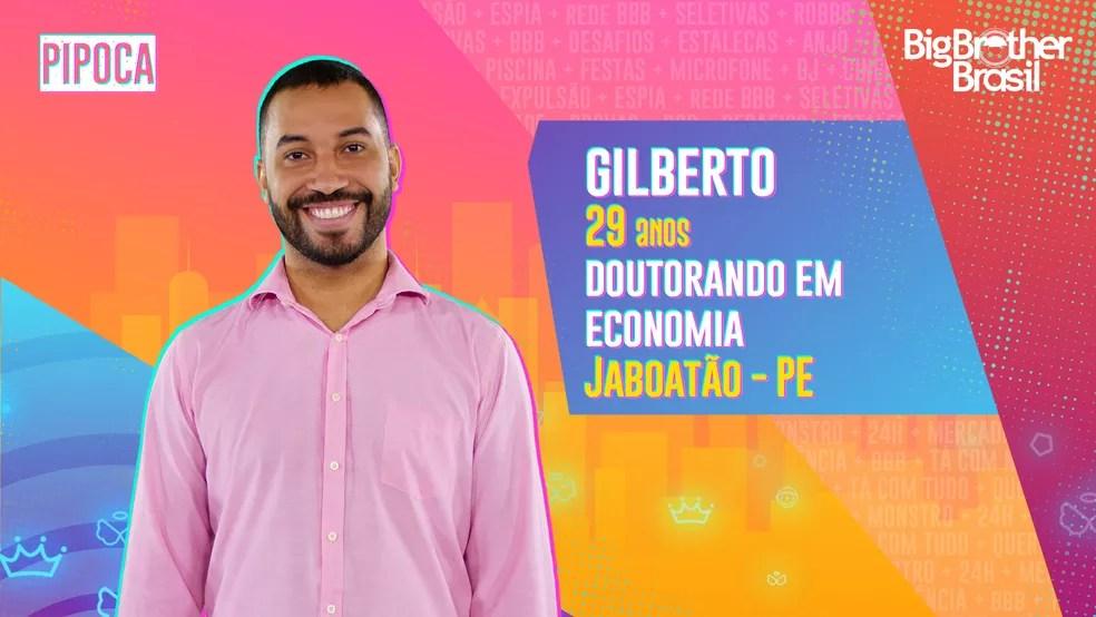 Gilberto é participante do BBB21 — Foto: Globo