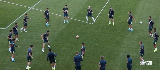 Com 19 jogadores, e três goleiros, seleção sub-23 tem desfalque para torneio de Tenerife — Foto: Reprodução CBF TV