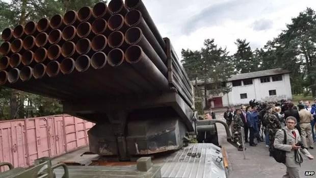 A Ucrânia alega que a Rússia envia armamento a separatistas que atuam no leste (Foto: AFP)