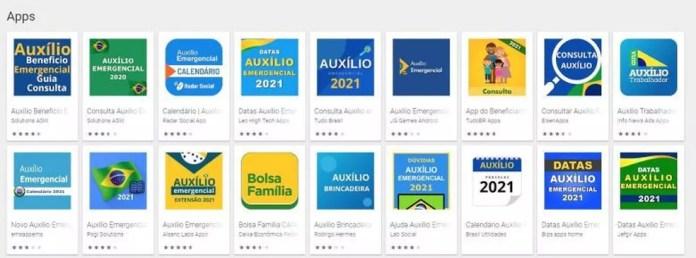 Apps falsos do Auxílio Emergencial 2021 já foram baixados milhares de vezes na Play Store  — Foto: Reprodução/Kaspersky