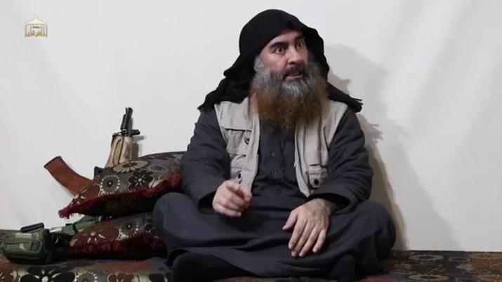 Abu Bakhr Al-Baghdadi em vídeo divulgado no dia 29 de abril de 2019 — Foto: AFP/Al-Furqan