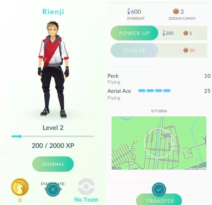 Pokémon Go: saiba ganhar experiênca rápido (Foto: Reprodução/Felipe Vinha) (Foto: Pokémon Go: saiba ganhar experiênca rápido (Foto: Reprodução/Felipe Vinha))