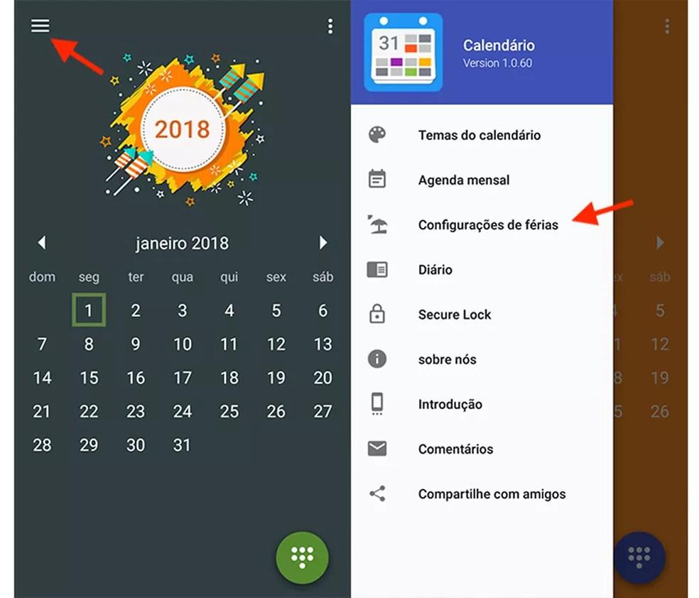 passo 1 - Conheça o app que marca todos os feriados de 2018 para você