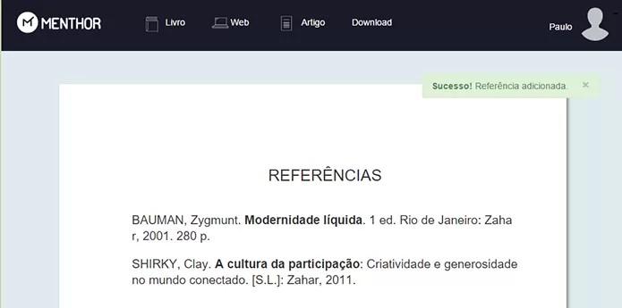 Autores são organizados automaticamente (Foto: Reprodução/Paulo Alves)