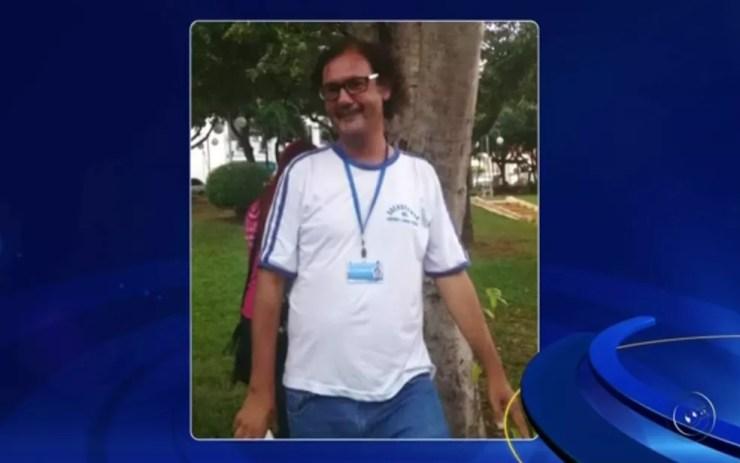 Segundo a polícia, o corpo é de Marco Antônio de Oliveira Pereira (Foto: Reprodução/TV TEM)