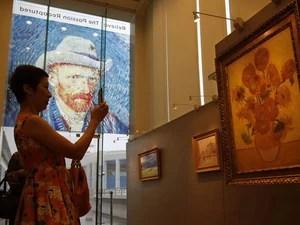 Exposição tridimensional sobre Van Gogh em Hong Kong (Foto: Bobby Yip /Reuters)