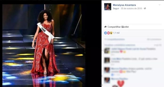 Monalysa Alcântara, miss Brasil 2017 (Foto: Reprodução/Instagram/@monalysaalcantara)