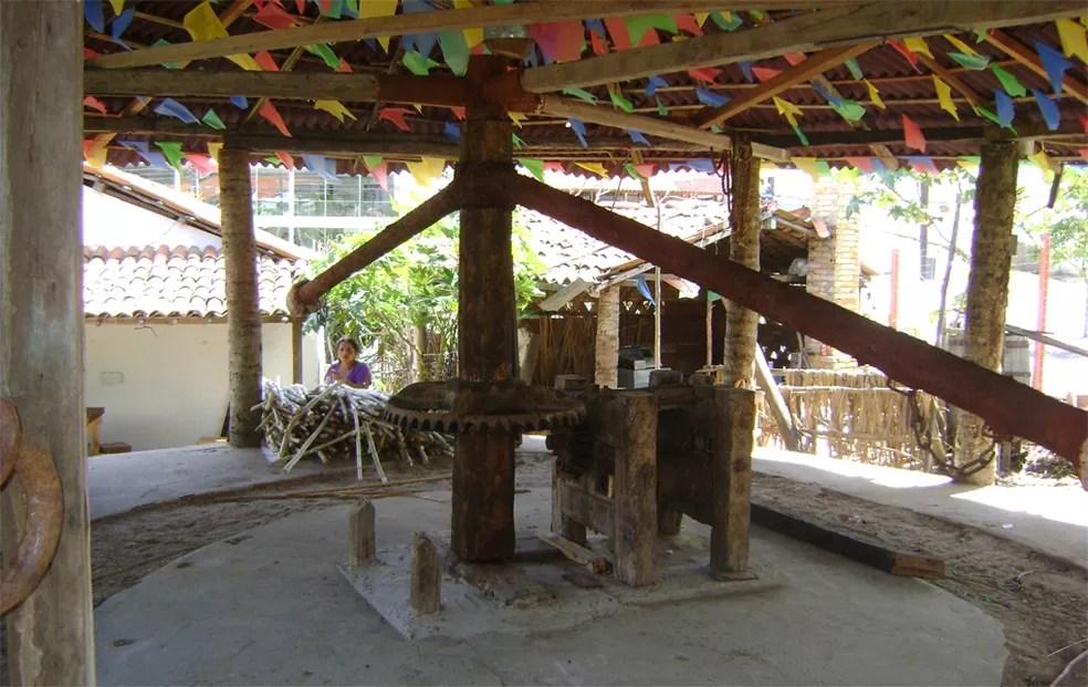 Sítio tem também um moinho de engenho de cana-de-açúcar (Foto: Rafael Melo/G1/Arquivo)