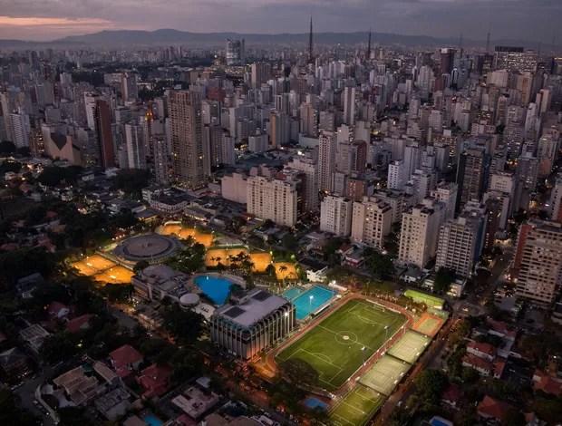Vista aérea atual do Paulistano (Foto: Arquivo Pessoal)