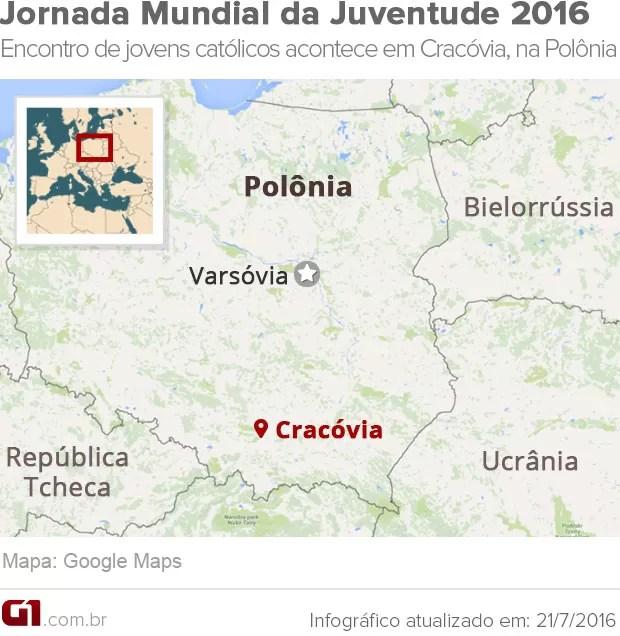 mapa JMJ (Foto: Arte)