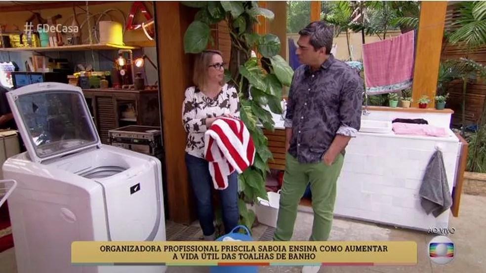 Priscila dá dicas no 'É de Casa' (Foto: TV Globo)