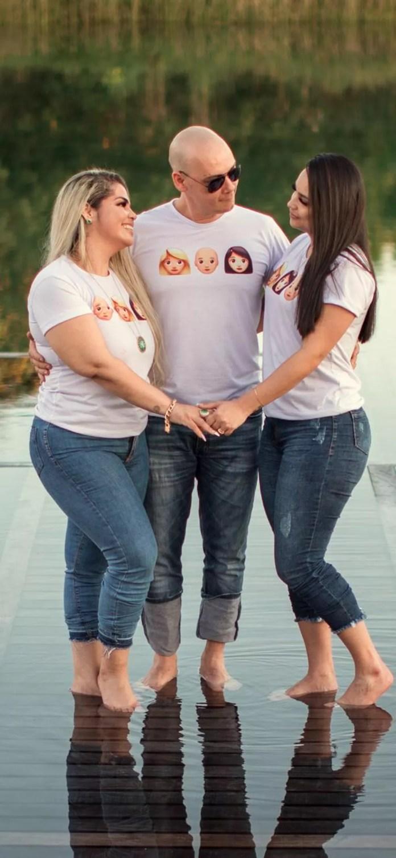 Alda, Erisson e Darlene comemoram o primeiro dia dos namorados juntos — Foto: Daniel Cruz/arquivo pessoal