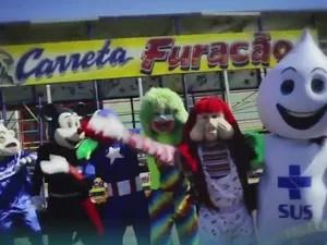 Vídeo da Campanha Nacional de Multivacinação tem Zé Gotinha e personagens da Carreta Furacão (Foto: Divulgação)