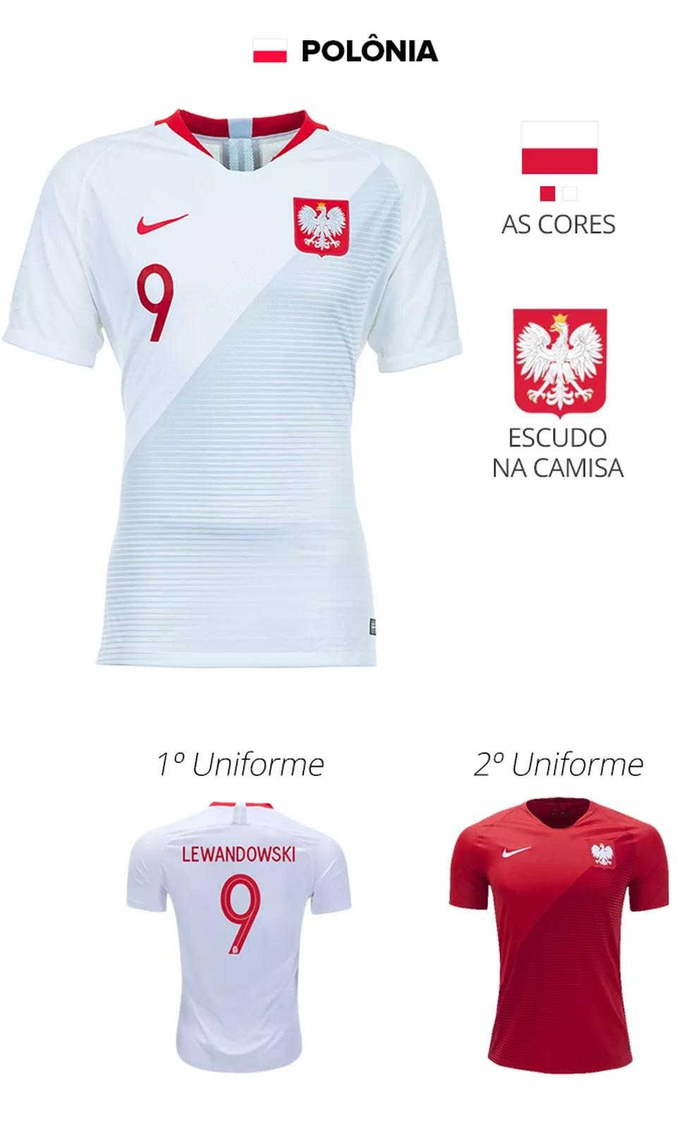 Veja como será o modelo das camisas das 32 seleções da Copa ... 4b307c4e0eb15