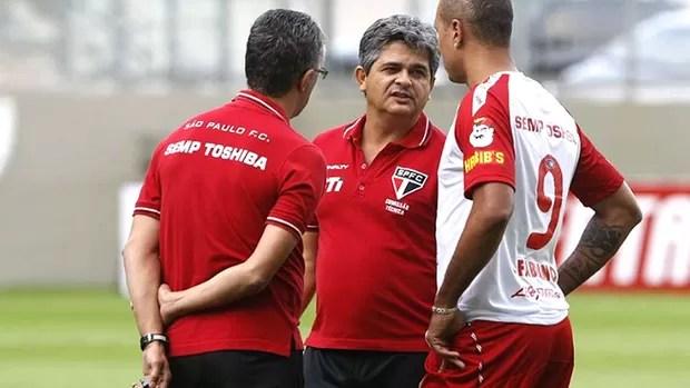 Ney Franco Luis Fabiano treino São Paulo (Foto: Rubens Chiri / saopaulofc.net)