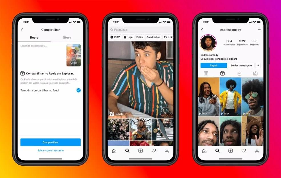 Usuários podem enviar seus Reels para a aba Explorar do Instagram — Foto: Divulgação/Instagram
