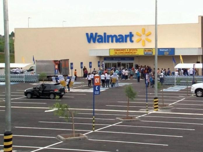 Unidade do Walmart — Foto: Reprodução EPTV