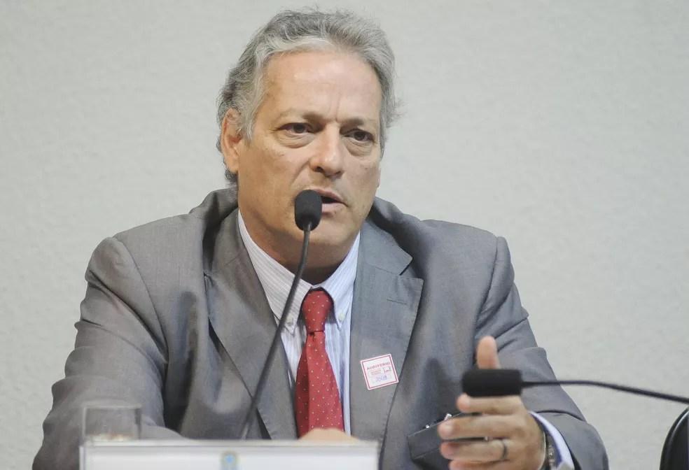 O candidato João Goulart Filho (PPL) fala no Senado (Foto: Pedro França/Agência Senado)
