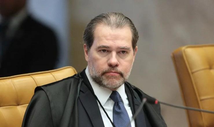 O ministro Dias Toffoli, do STF, em sessão de julgamento do foro privilegiado (Foto: Carlos Moura/SCO/STF)