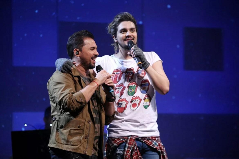 Luan Santana e Xand Avies (Foto: Fabiano Leone/Multishow)