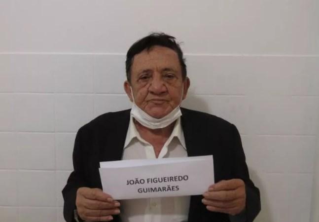 João Figueiredo Guimarães, de 74 anos, foi preso ao tentar entrar com droga no presídio — Foto: Reprodução
