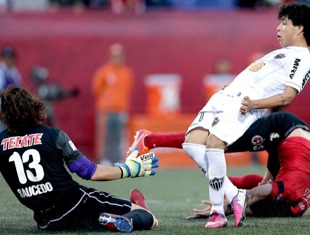 LUan atlético-mg tijuana libertadores (Foto: Agência AP)
