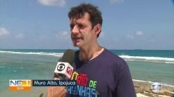 'Praias do Nordeste estão aptas para receber banhistas', diz ministro do Turismo após molhar os pés em local atingido por óleo   Pernambuco