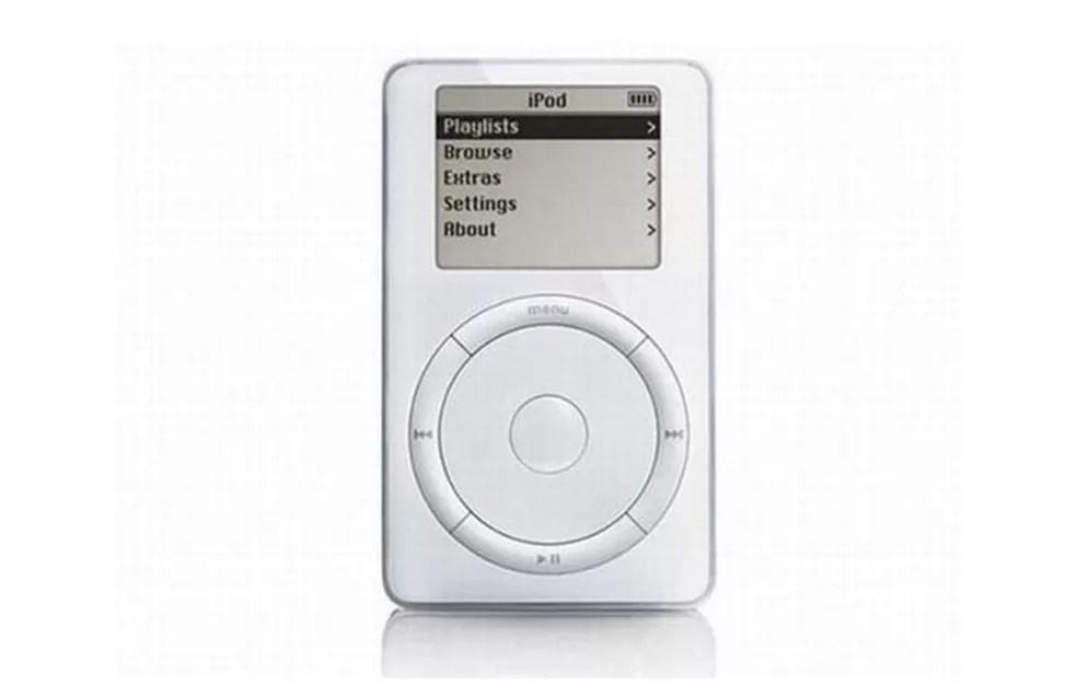 Primeiro iPod da Apple era conhecido como Dulcinmer — Foto: Divulgação/Apple