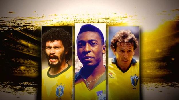 Sócrates, Pelé e Zico estão entre os indicados — Foto: Infoesporte