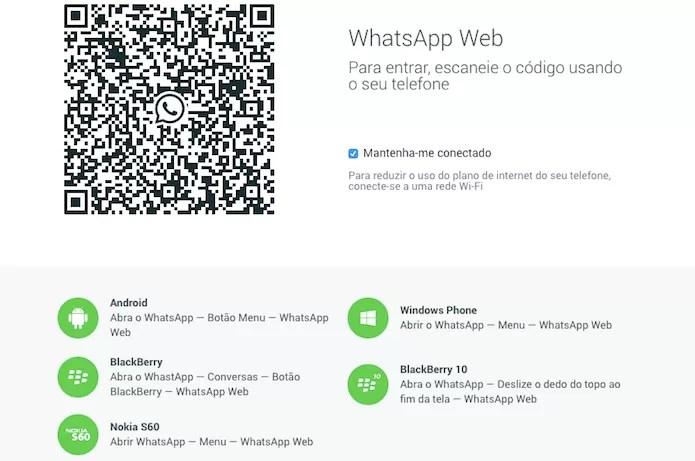 Acesse a página do WhatsApp Web usando o Chrome (Foto: Reprodução/Helito Bijora)