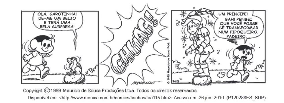 Tirinha original feita por Maurício de Sousa — Foto: Reprodução/Internet