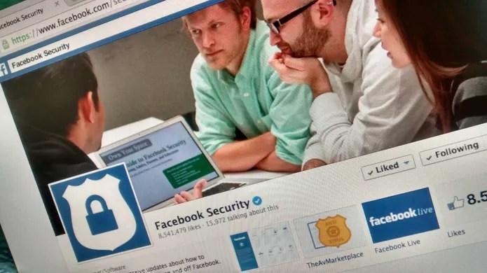 Página de segurança do Facebook; saiba se proteger de golpes na rede social (Foto: TechTudo/Melissa Cruz)