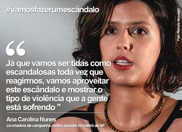 Dia da Mulher: Ana Carolina fala sobre a hashtag #vamosfazerumescândalo (Foto: Marcelo Brandt/G1)