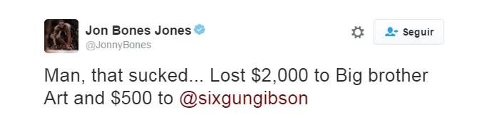 Jon Jones Aposta Twitter UFC (Foto: Reprodução/Twitter)