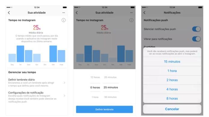 Facebook acrescentou no app opções para controlar tempo de uso (Foto: Divulgação/Facebook)