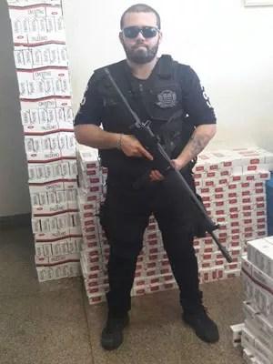 Policial afirmou no Boletim de Ocorrência que tem escalas exaustivas (Foto: Daniel Hubscher Ávilla/Cedida)