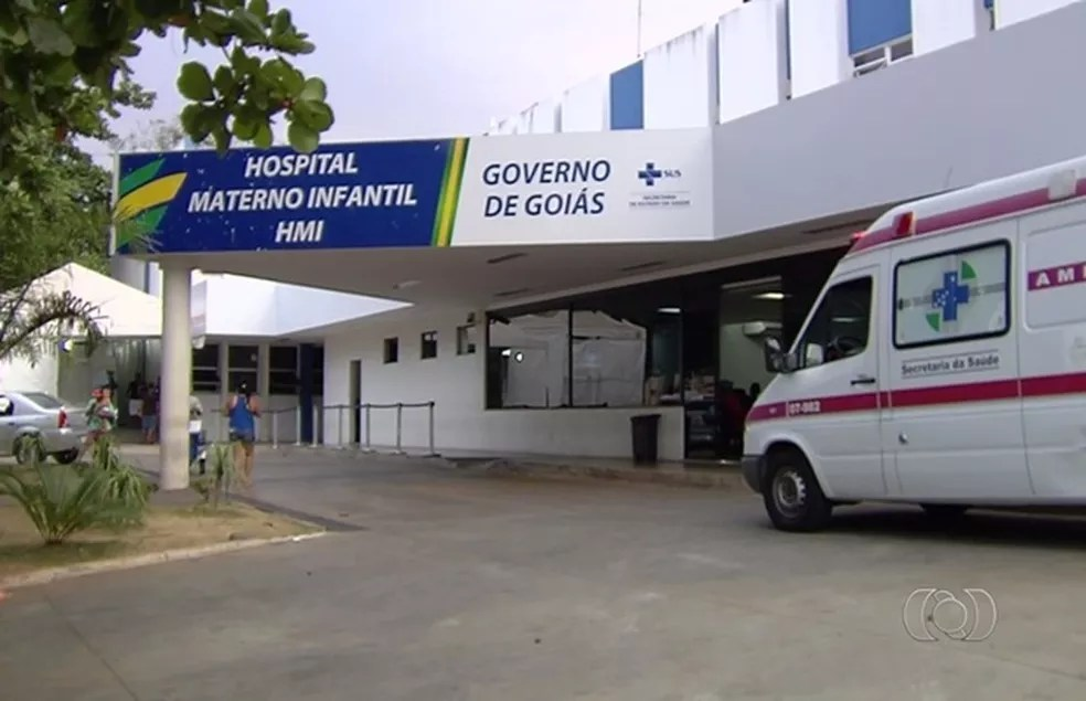 Bebê nasceu no HMI, em Goiânia — Foto: Reprodução/TV Anhanguera