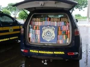 Polícia apreende cerca de 500 kg de cocaína em rodovia de MS (Foto: Divulgação/PRF)