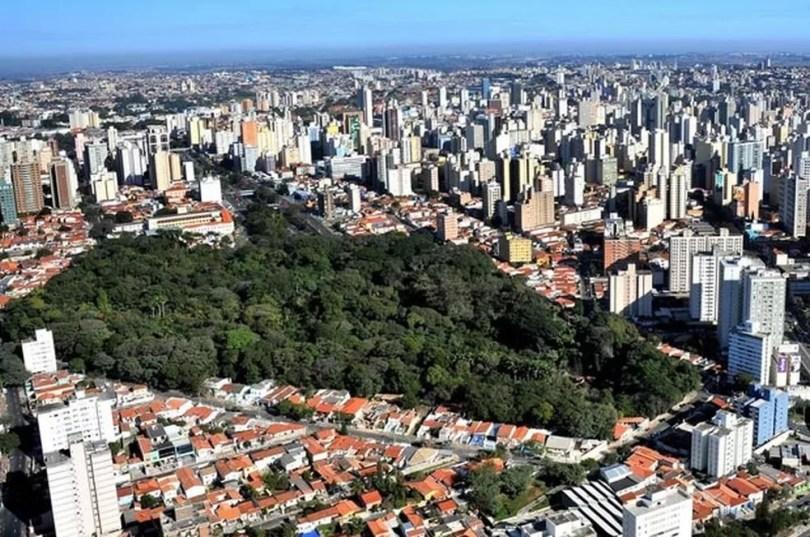 Vista aérea de Campinas (SP) — Foto: João Maurício Garcia