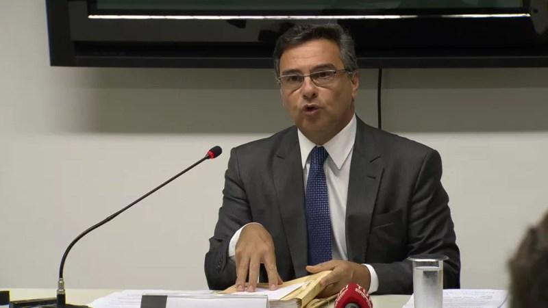 Procurador-geral de Justiça do RJ, Eduardo Gussem — Foto: Reprodução/TV Globo